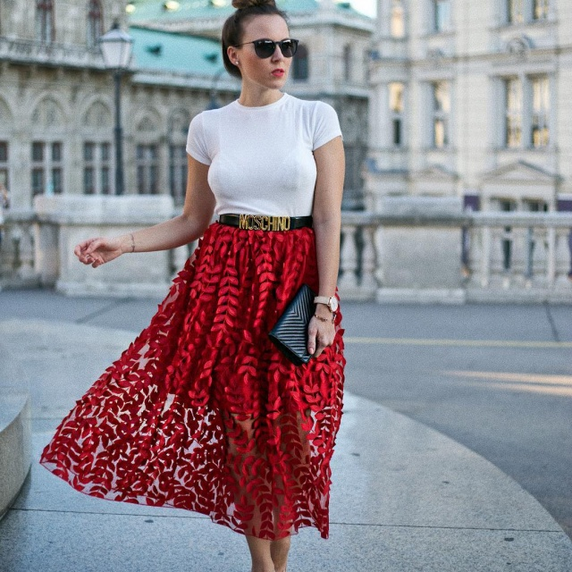 Definitely an Itpiece Red skirt w silk perfection  hellip