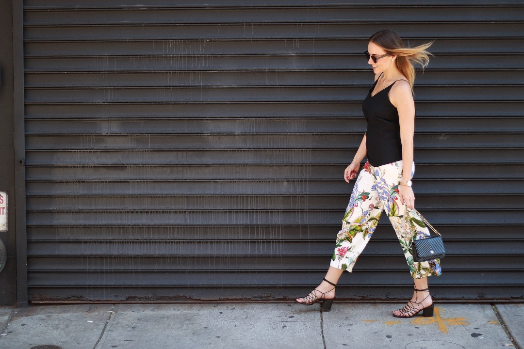 Flower culottes & lace up sandals (3)