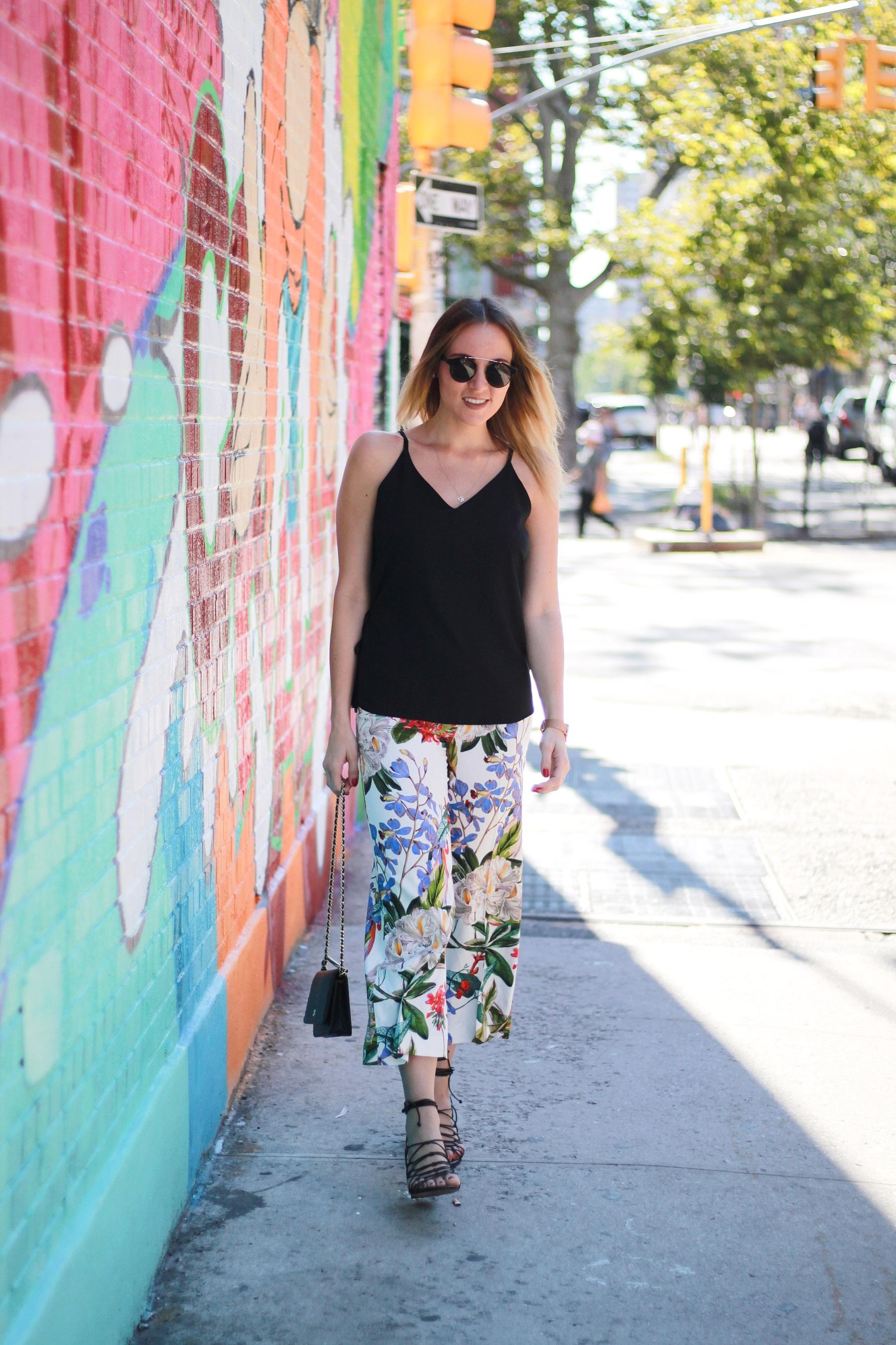 Flower culottes & lace up sandals (7)