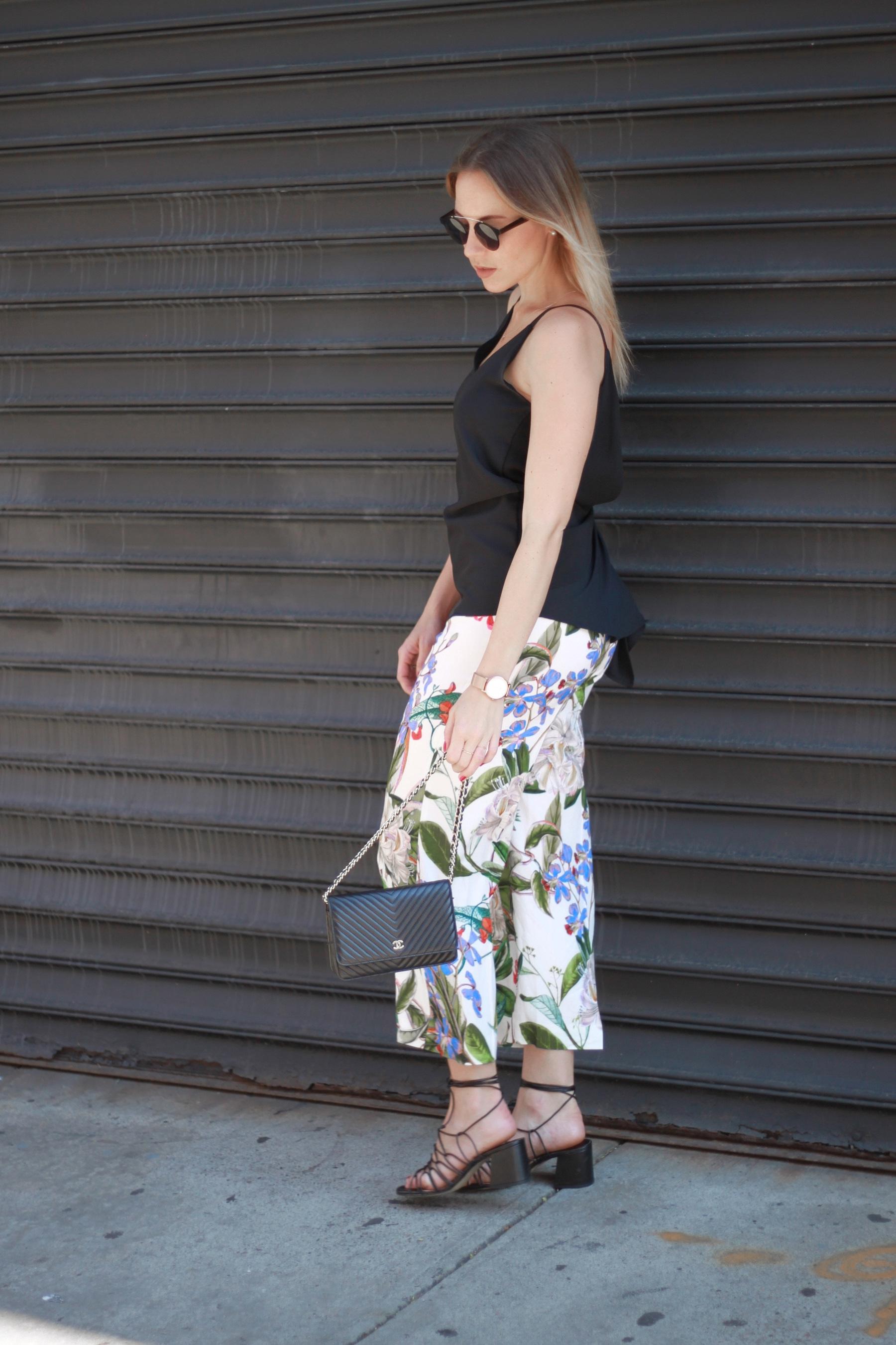Flower culottes & lace up sandals (9)