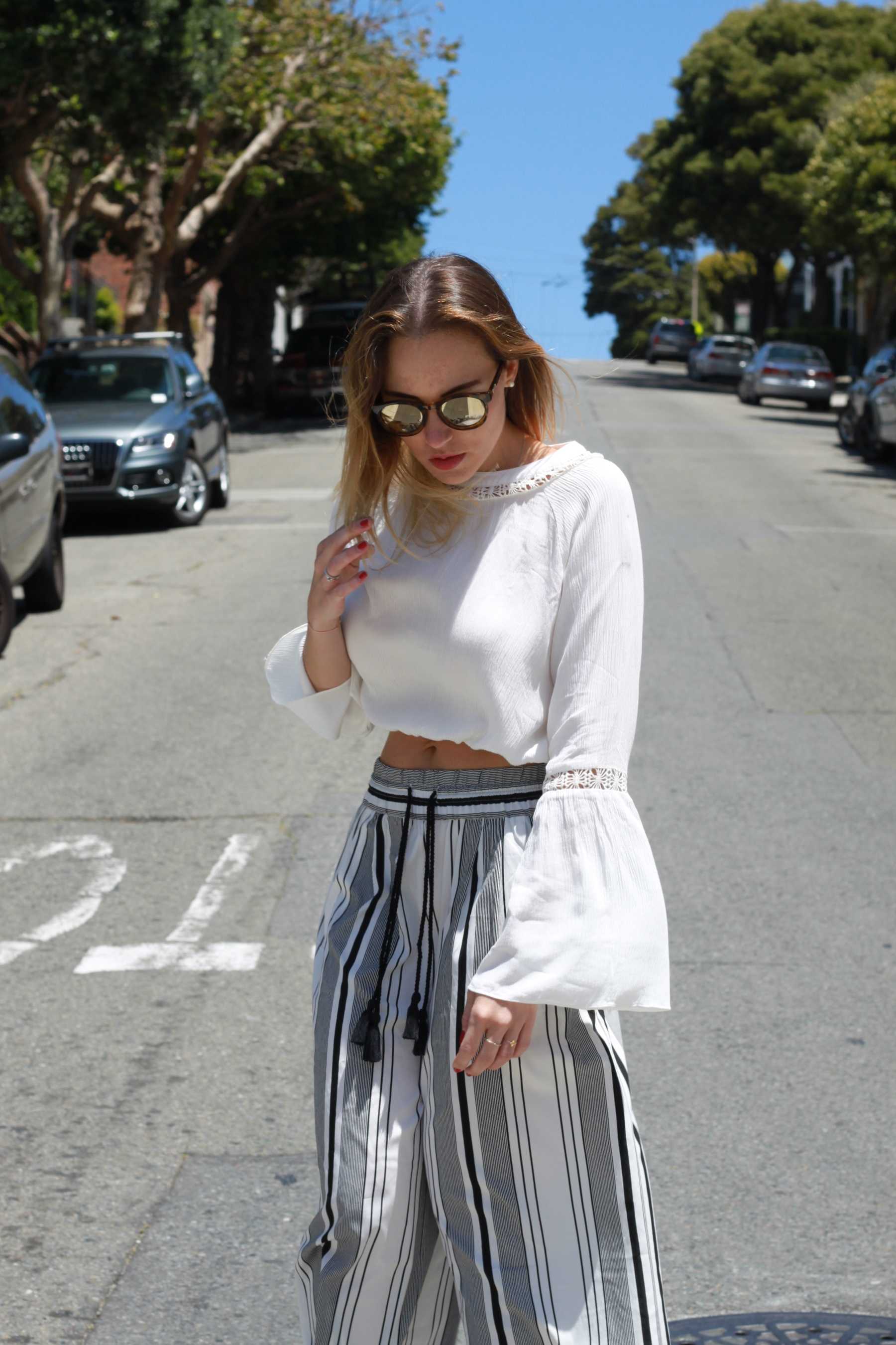 OUTFIT Silk Pants and cropped longsleeve San Francisco (8)