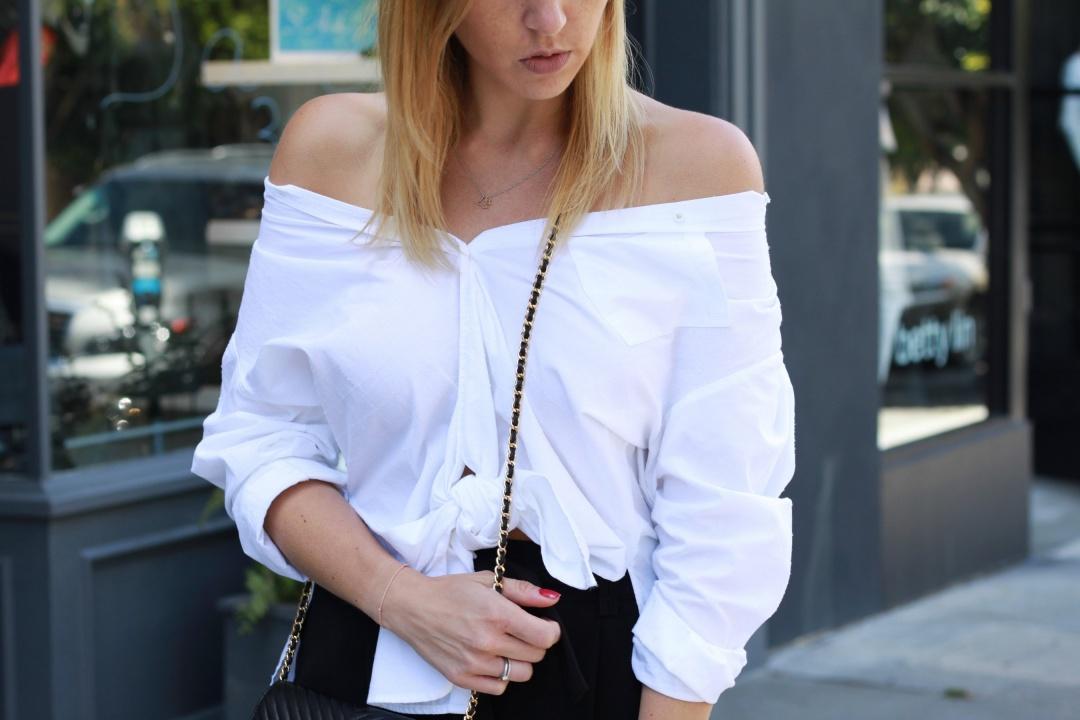 Off shoulder knot blouse fruitysky (2)