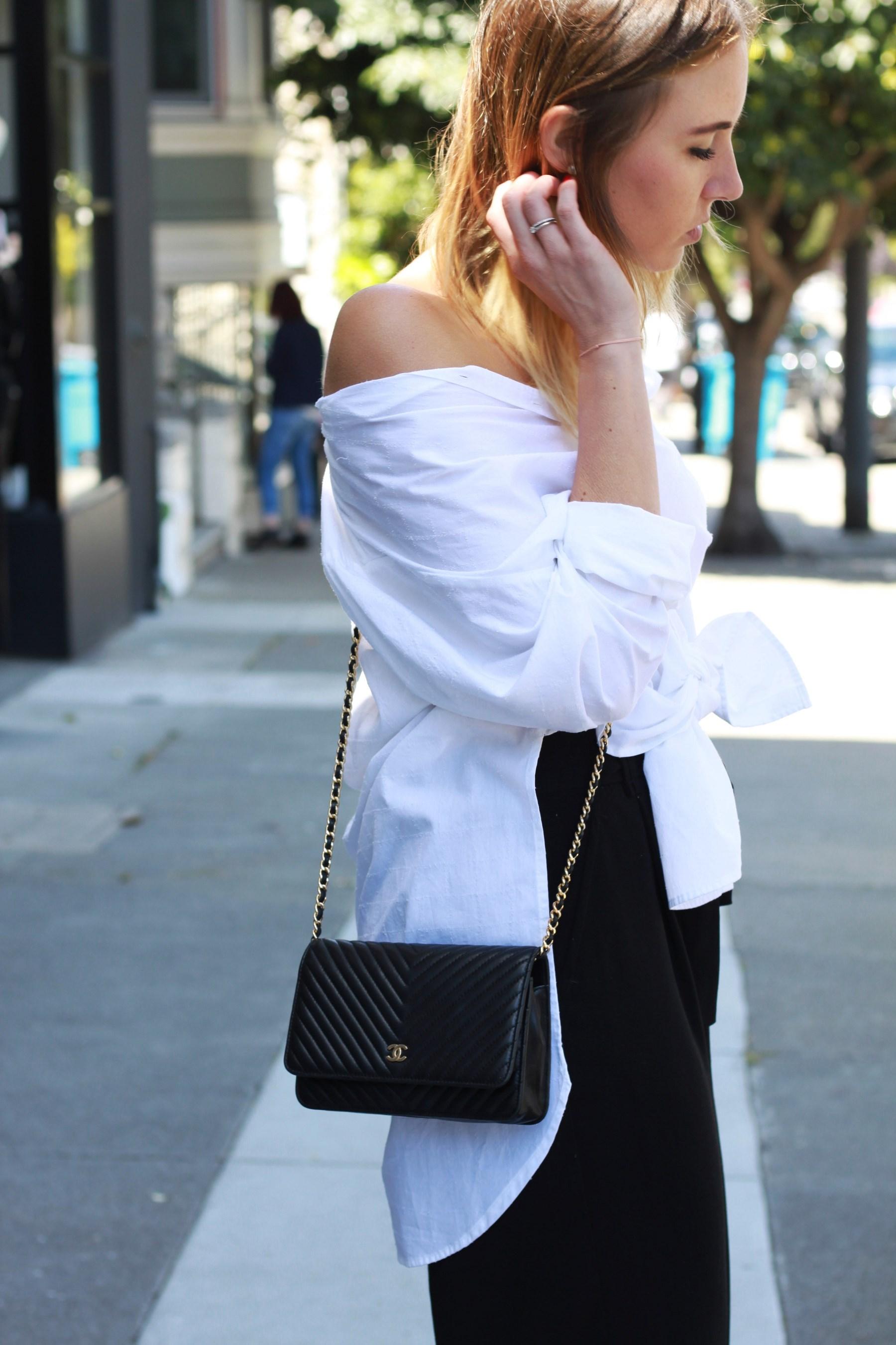 Off shoulder knot blouse fruitysky (3)
